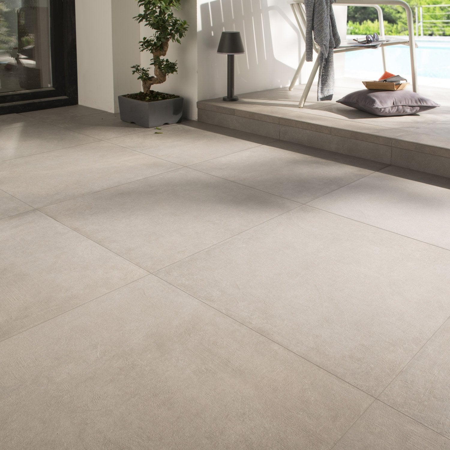 Carrelage sol gris effet b ton houston x cm for Carrelage exterieur 60x60