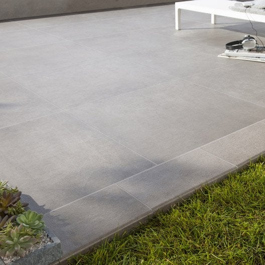 Carrelage sol taupe effet b ton houston x cm for Baguette finition carrelage sol