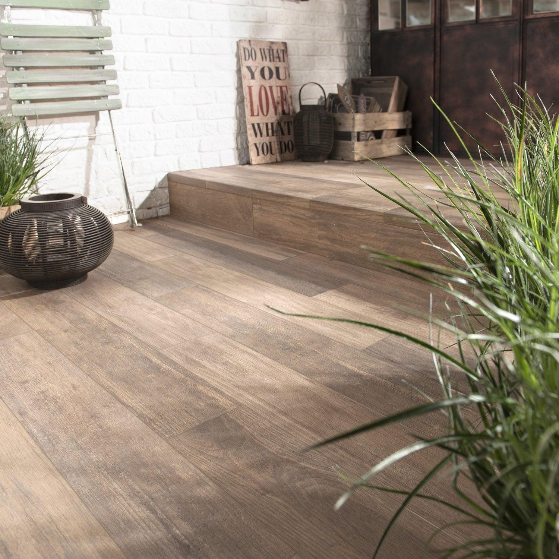 carrelage sol beige effet bois way l.15 x l.90 cm | leroy merlin - Carrelage Piscine Imitation Bois