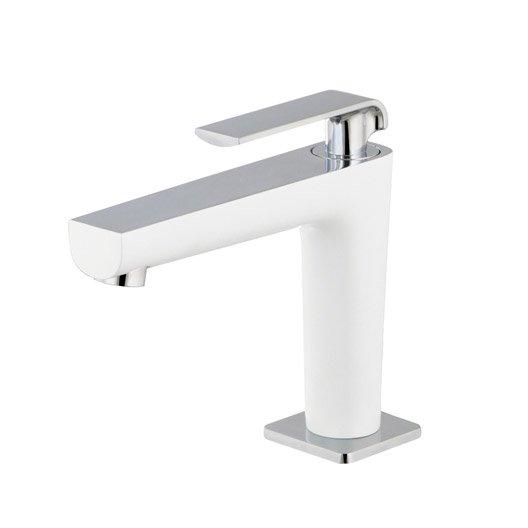 robinet de lave mains eau froide blanc brillant pacific. Black Bedroom Furniture Sets. Home Design Ideas