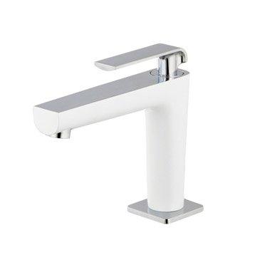 Robinet de lave-mains eau froide blanc brillant Pacific