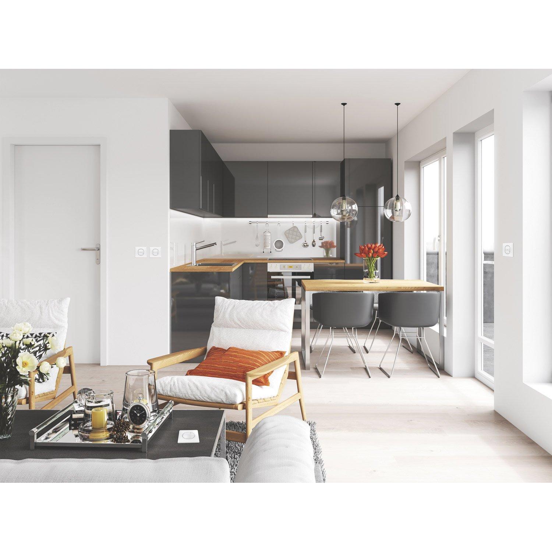 interrupteurs et prises legrand s rie c liane with netatmo blanc leroy merlin. Black Bedroom Furniture Sets. Home Design Ideas