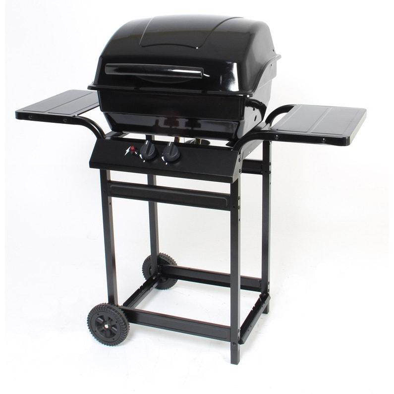 Barbecue Au Gaz 2 Brûleurs Noir