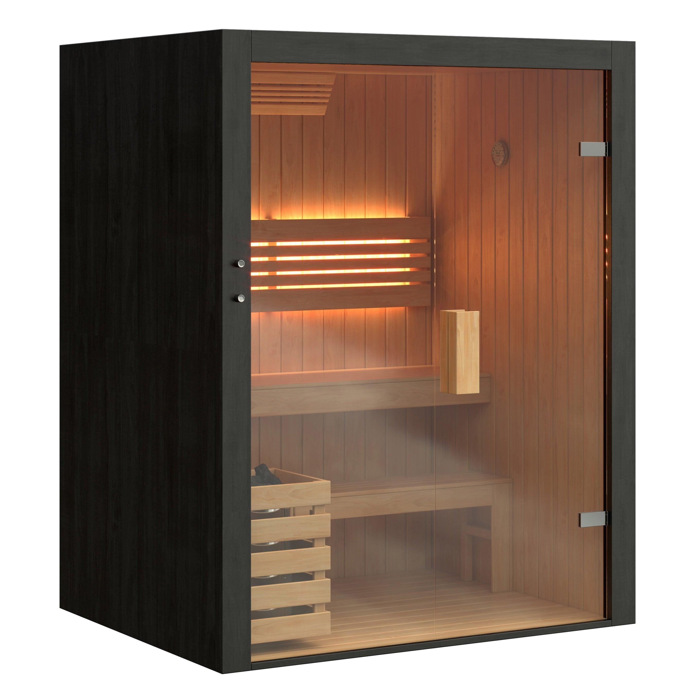 Comment Faire Fonctionner Un Sauna sauna traditionnel d'intérieur 2 ou 3 personnes spasso black pearl