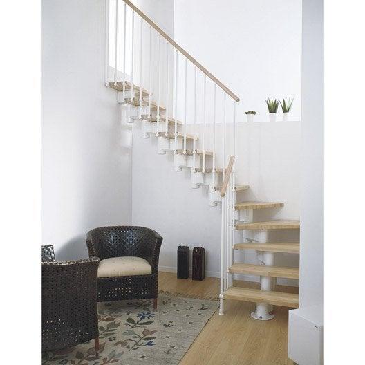 escalier long modulaire en bois et m tal 12 marches leroy merlin. Black Bedroom Furniture Sets. Home Design Ideas