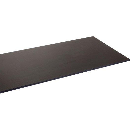 plateau de table agglom r noir x cm x mm leroy merlin. Black Bedroom Furniture Sets. Home Design Ideas