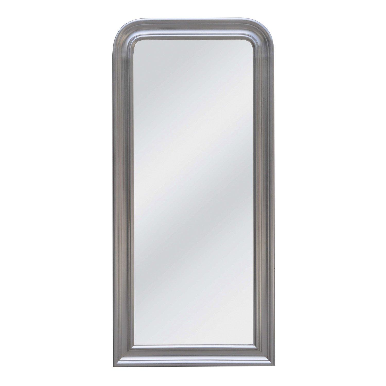 Miroir daventry rectangle argent x cm - Miroir salon leroy merlin ...