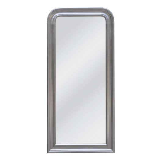 Miroir daventry rectangle argent 70x150 cm leroy merlin for Miroir television leroy merlin