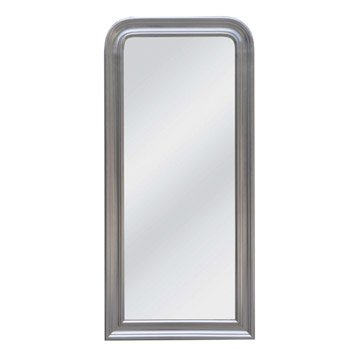 Miroir Daventry rectangle, argent, l.51.6 x H.131.6 cm