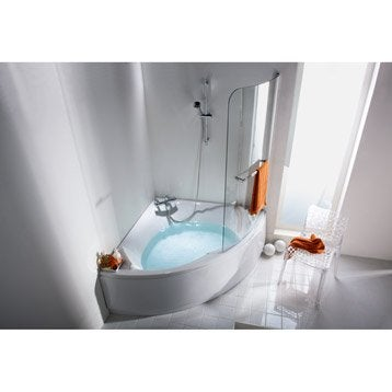 Tablier de baignoire L.140x l.140 cm blanc, SENSEA Purity