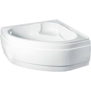 Tablier de baignoire L.135x l.135 cm blanc Nerea