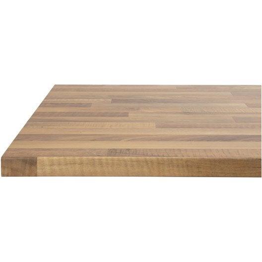 plan de travail droit stratifi ch ne lamell 300 x 65 cm p 38 mm leroy merlin. Black Bedroom Furniture Sets. Home Design Ideas