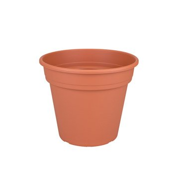 Pot plastique NATERIAL Diam.22.04 L.22.04 x l.22.04 x H.18.61 cm orange doré n°1