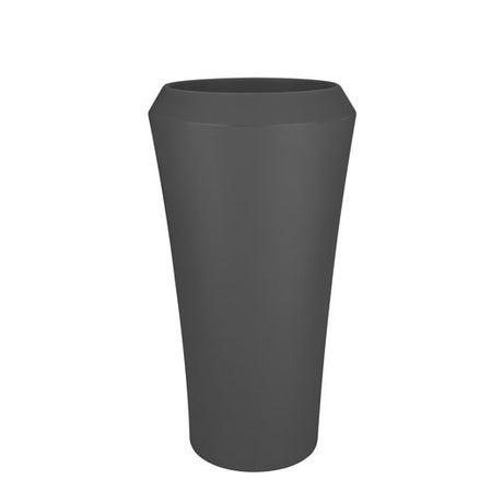 Pot polyéthylène NATERIAL Diam.39 L.39 x l.39 x H.74 cm noir