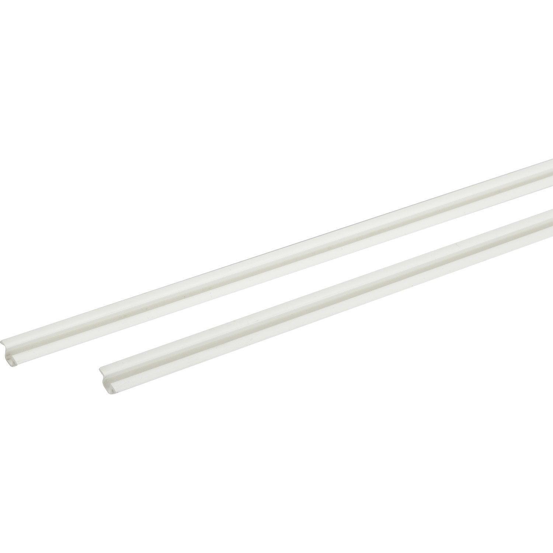 Lot De Rails Plastique Pour Portes Coulissantes HETTICH Leroy Merlin - Rails pour portes coulissantes