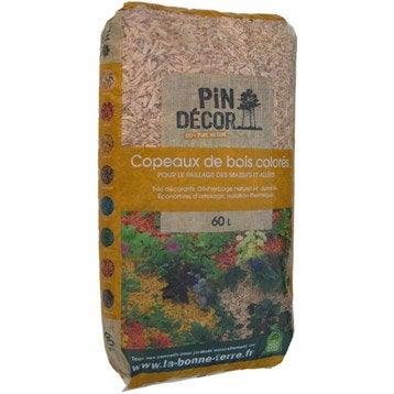 Copeaux de bois PIN DECOR, 60 l