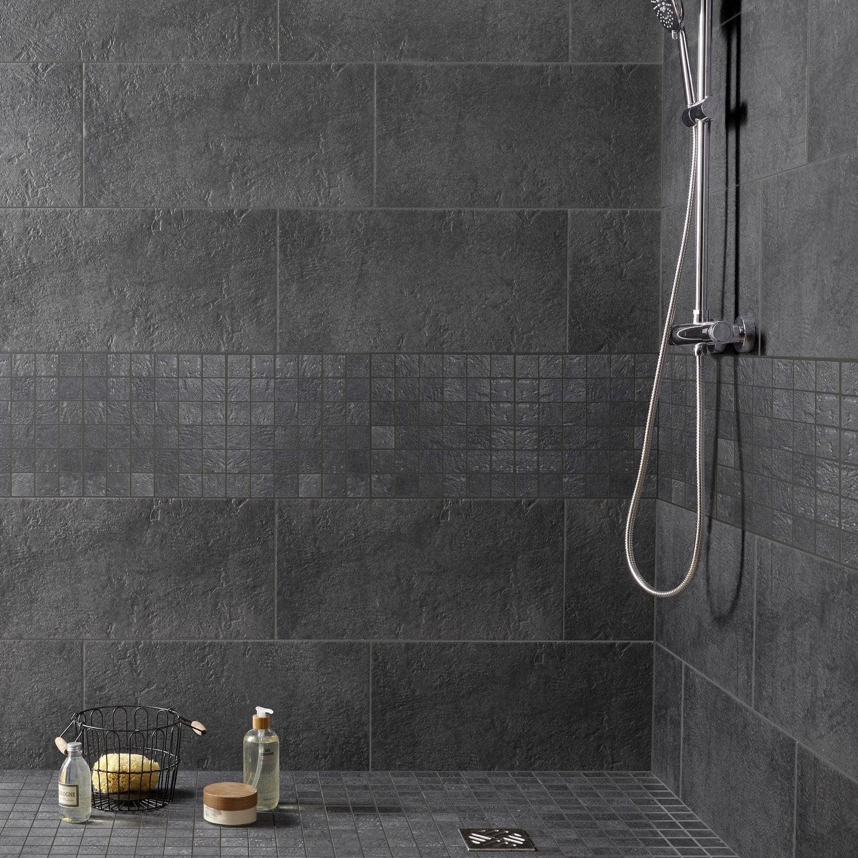 Un carrelage effet ardoise pour la salle de bains | Leroy Merlin