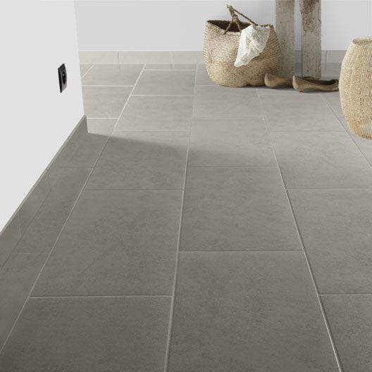 Carrelage 30x60 gris for Carrelage grand carreaux gris