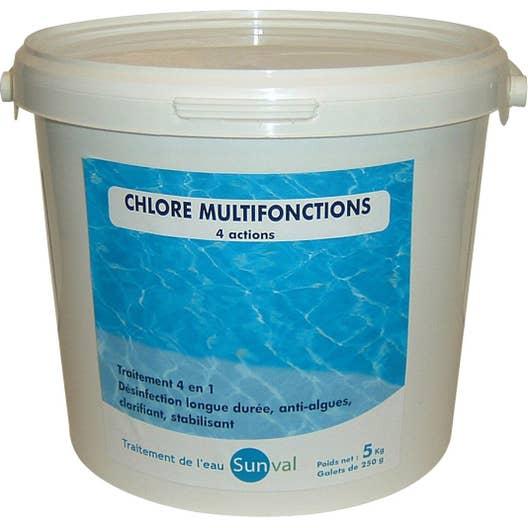 chlore 4 actions piscine galet 5 kg leroy merlin. Black Bedroom Furniture Sets. Home Design Ideas