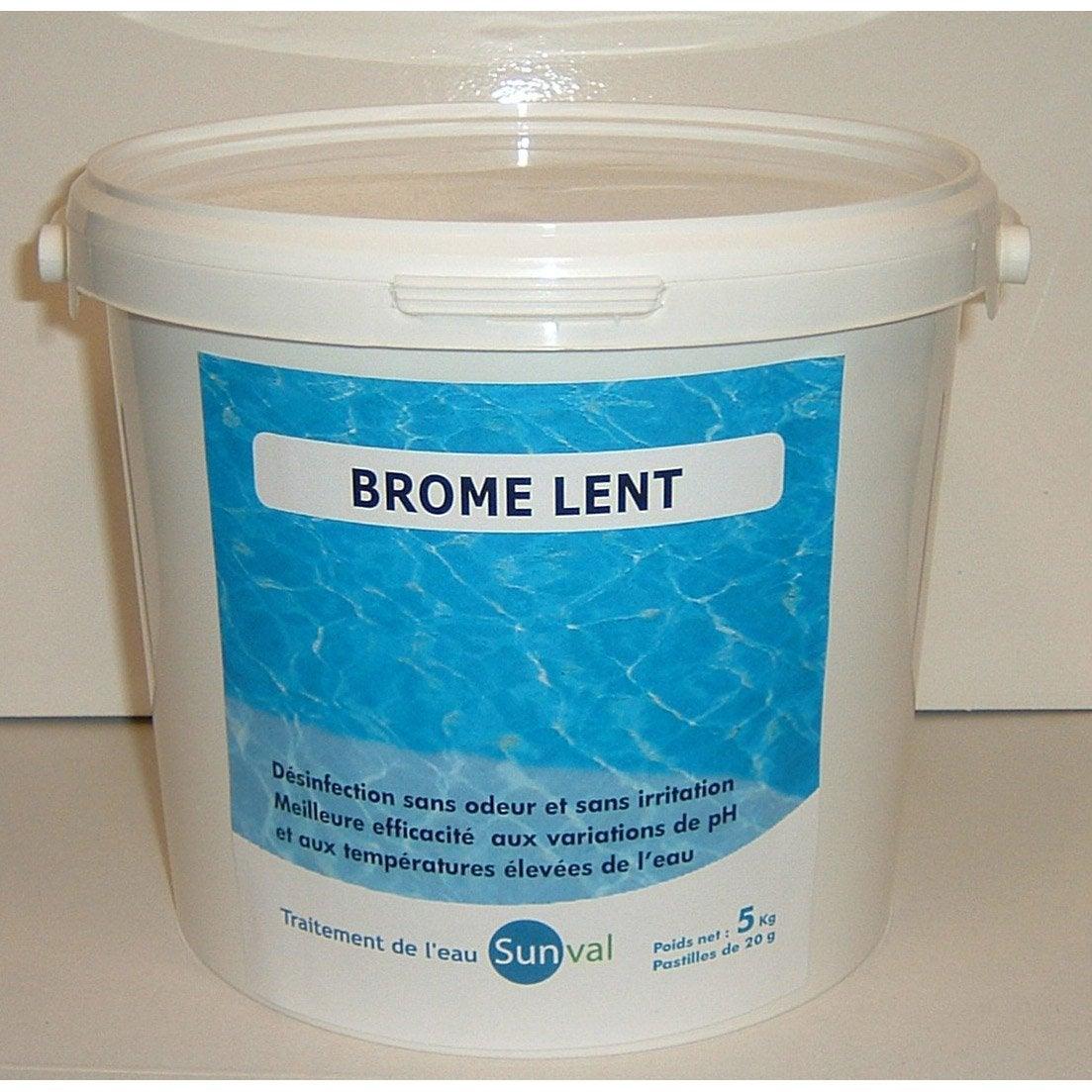 brome lent piscine pastille 5 kg leroy merlin