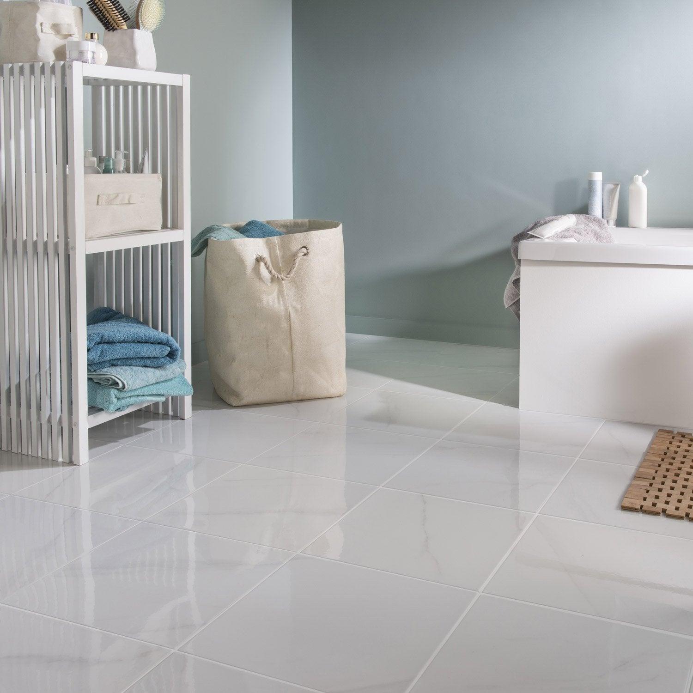 Carrelage Sol Et Mur Medio Marbre Blanc Samos L333 X L333 Cm