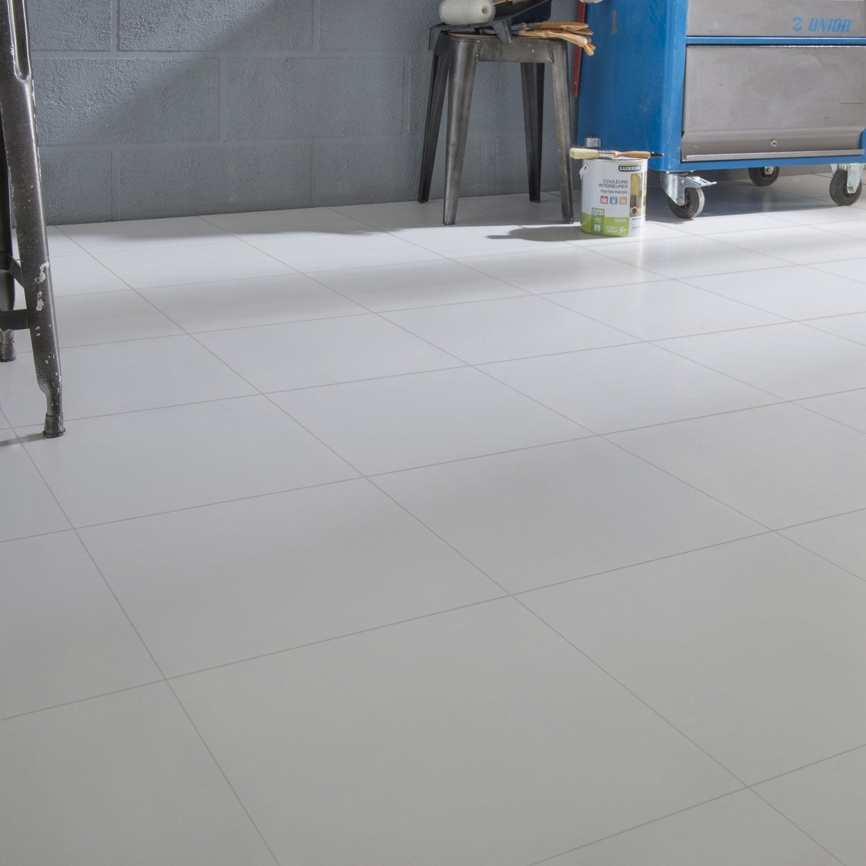 Carrelage sol et mur medio blanc Nevada l.33.3 x L.33.3 cm