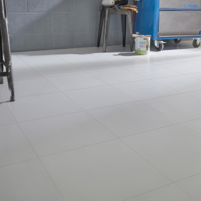 Carrelage Sol Et Mur Blanc Couleur Nevada L X L Cm Leroy - Carrelage blanc