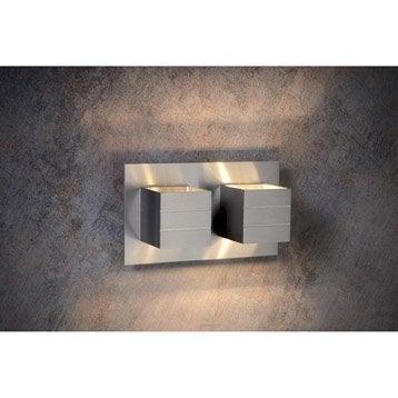 Applique Bok, 2 x 40 W, aluminium, LUCIDE