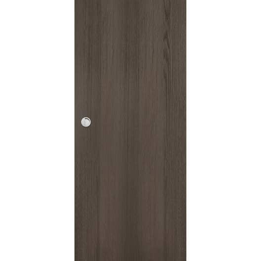 porte coulissante m dium mdf rev tue gris loulou artens x cm leroy merlin. Black Bedroom Furniture Sets. Home Design Ideas
