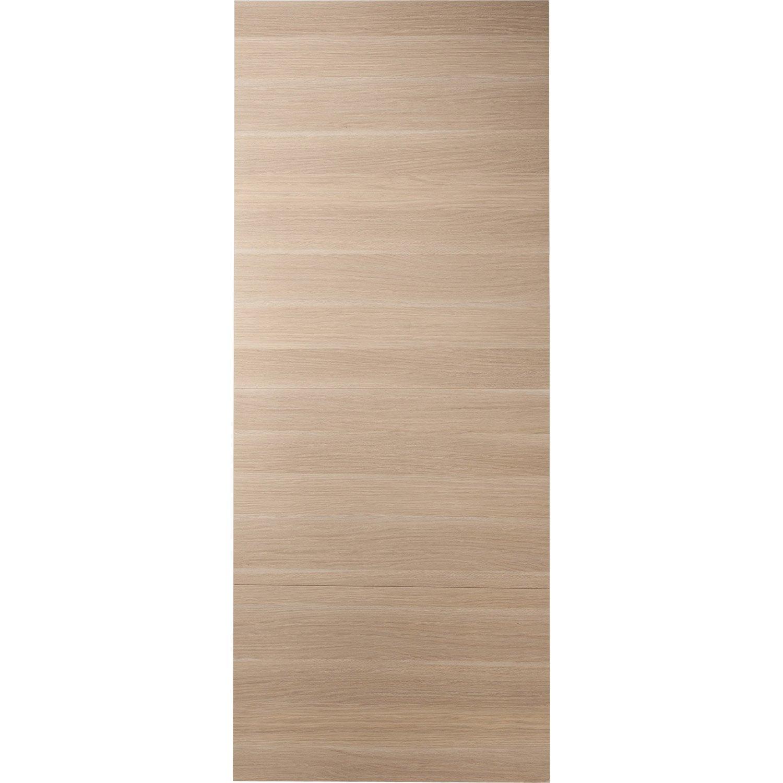 Porte coulissante médium (mdf) revêtue Madrid 2 ARTENS, H.204 x l.73 cm