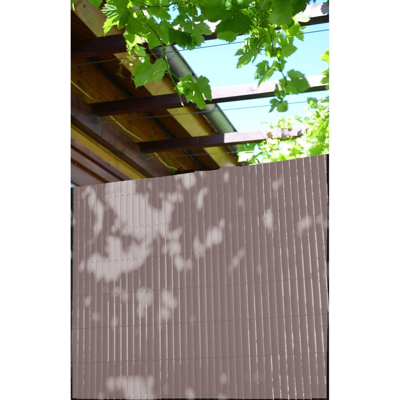 Canisse Pvc Taupe H100 Cm X L300 Cm 3306130851008 Terrasse