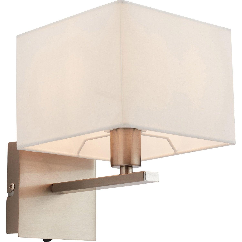 Applique métal gris / blanc MATHIAS Calvi 1 lumière(s)