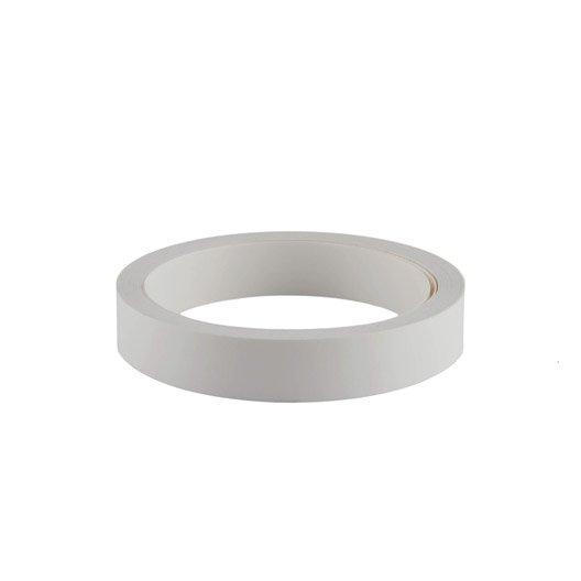 Bande de chant adhésive blanc PRIMO, L.500 x l.2.3 cm