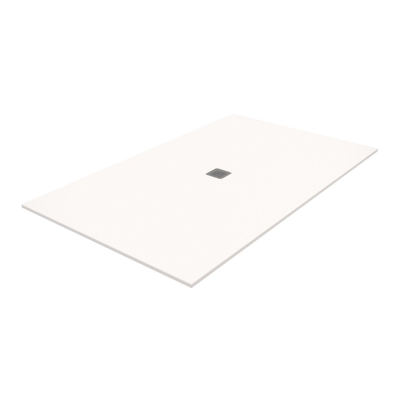 Receveur de douche rectangulaire x cm pierre blanc kioto2 leroy merlin - Receveur de douche 160 x 80 ...