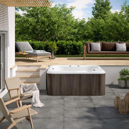 spa poser ou encastrer chocolat 6 places canadian spa thunder bay leroy merlin. Black Bedroom Furniture Sets. Home Design Ideas
