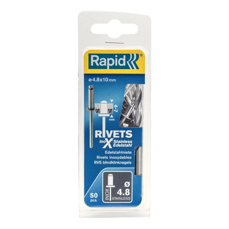 Lot De 50 Rivets Acier Inoxydable Diam48 X H10 Mm Rapid