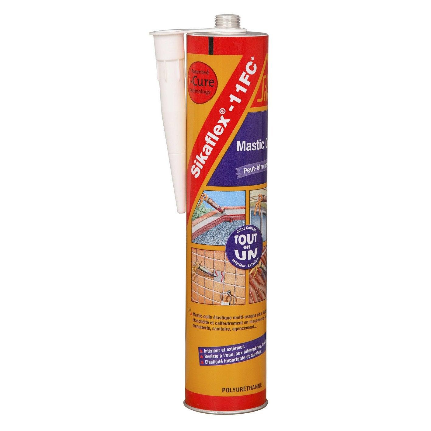 Comment Coller Du Bois Sur Du Ciment mastic colle sika sikaflex 11fc+ 300 ml gris