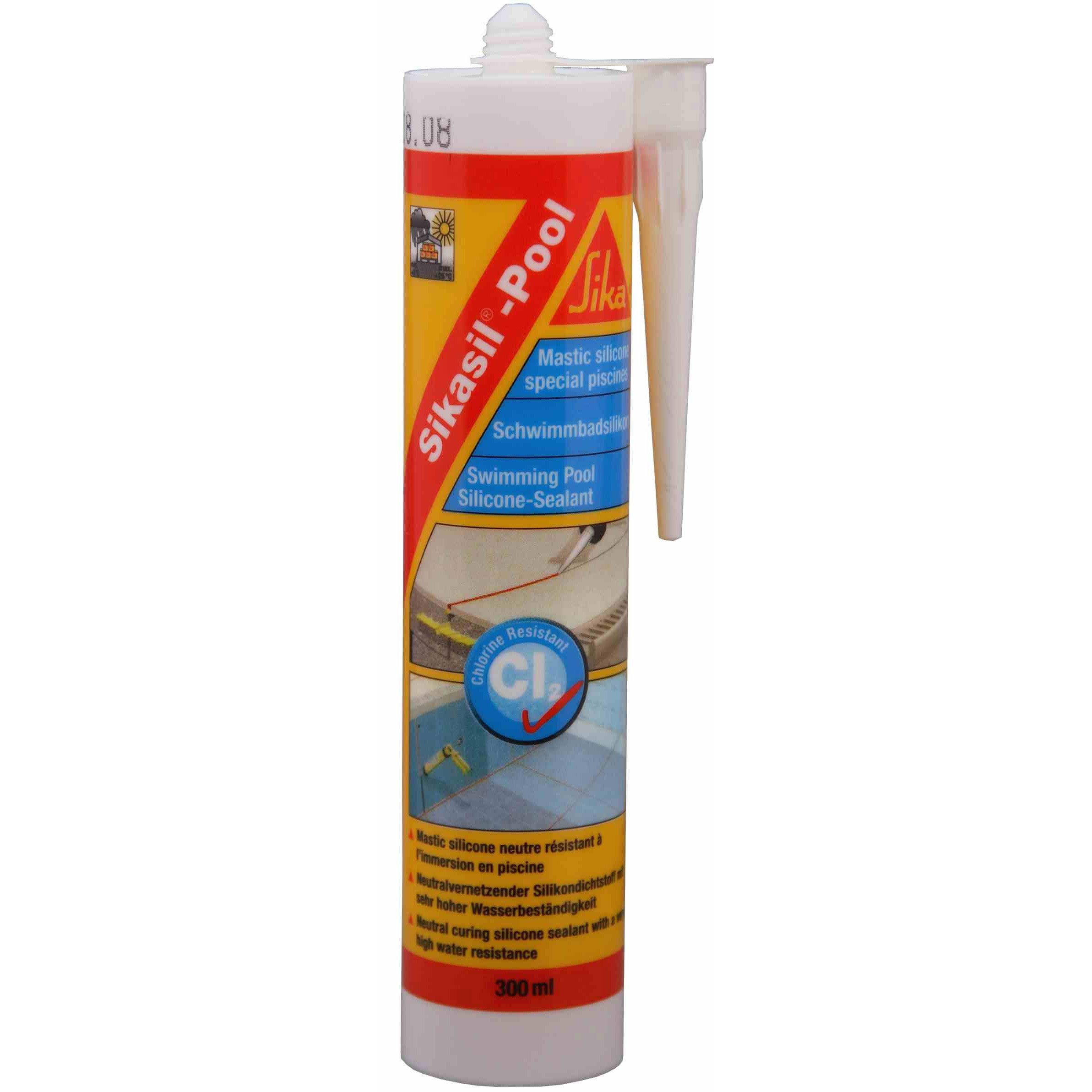 Mastic Sika Sikasil Pool 300 Ml Blanc