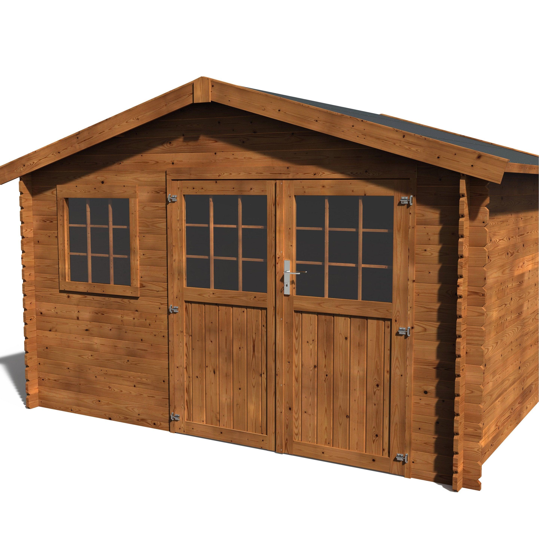 Quel Bois Pour Cabane De Jardin abri de jardin bois naterial kerno axess+ traité autoclave ep.28 mm, 9.05 m²