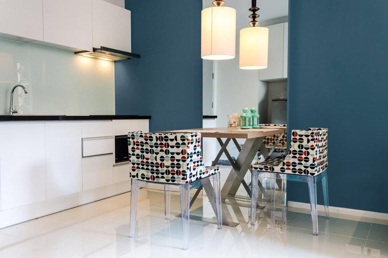 Peinture, mur, Cuisine et bains SYNTILOR, bleu canard, mat, 0.75 l