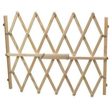 Fermeture extensible animaux Dog lock en bois,  long. min/max 62/107 cm, H83 cm