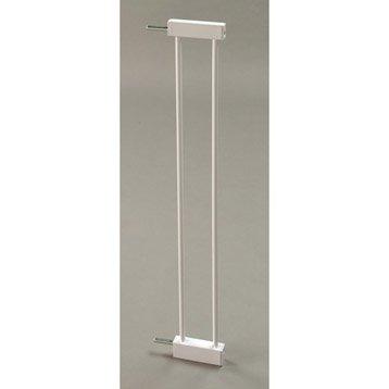 Extension de barrière sécurité enfant Mistral métal, long. 9 cm, H72.5 cm