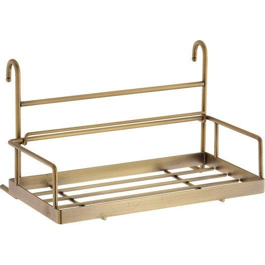 etag re porte ponge pour barre de cr dence m tal x cm leroy merlin. Black Bedroom Furniture Sets. Home Design Ideas