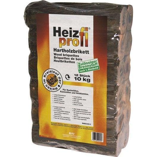 B ches calorifiques heiz profi en sac de 12 10 kg leroy merlin - Bois compresse leroy merlin ...