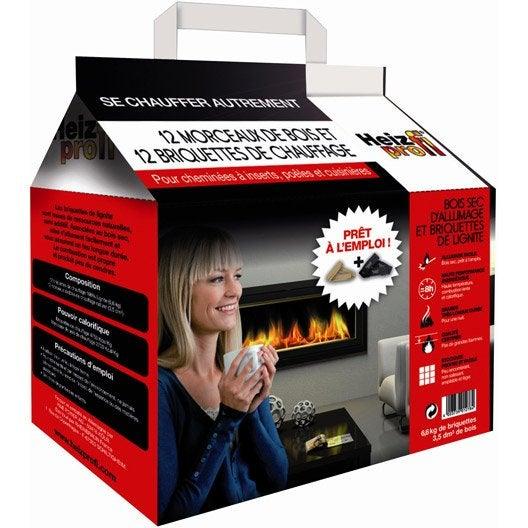 briquettes de lignite heiz profi en sac 8 kg leroy merlin. Black Bedroom Furniture Sets. Home Design Ideas