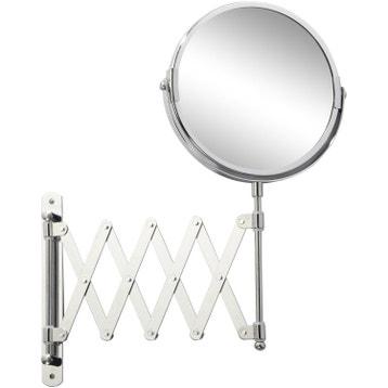 Miroir grossissant miroir de salle de bains au meilleur prix leroy merlin for Miroir extensible