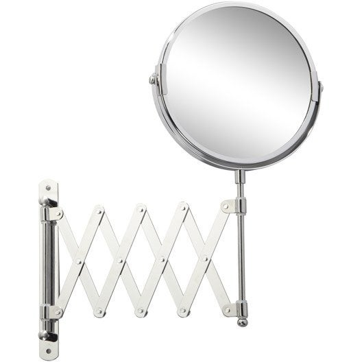 Miroir grossissant x 2 rond fixer x x p 1 8 for Miroir rond grossissant