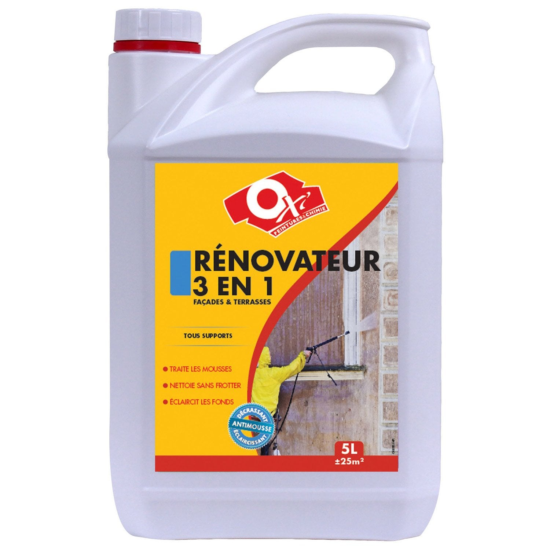 Decrassant Et Renovateur Facade 3 En 1 Oxytol 5 L Leroy Merlin
