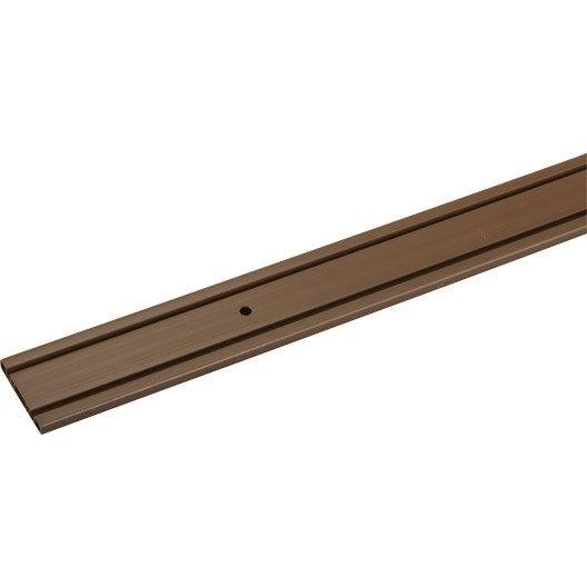 Rail plastique pour portes coulissantes hettich leroy merlin for Rail porte coulissante meuble