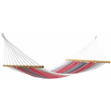 Toile de hamac Aruba JOBEK rouge / gris / écru